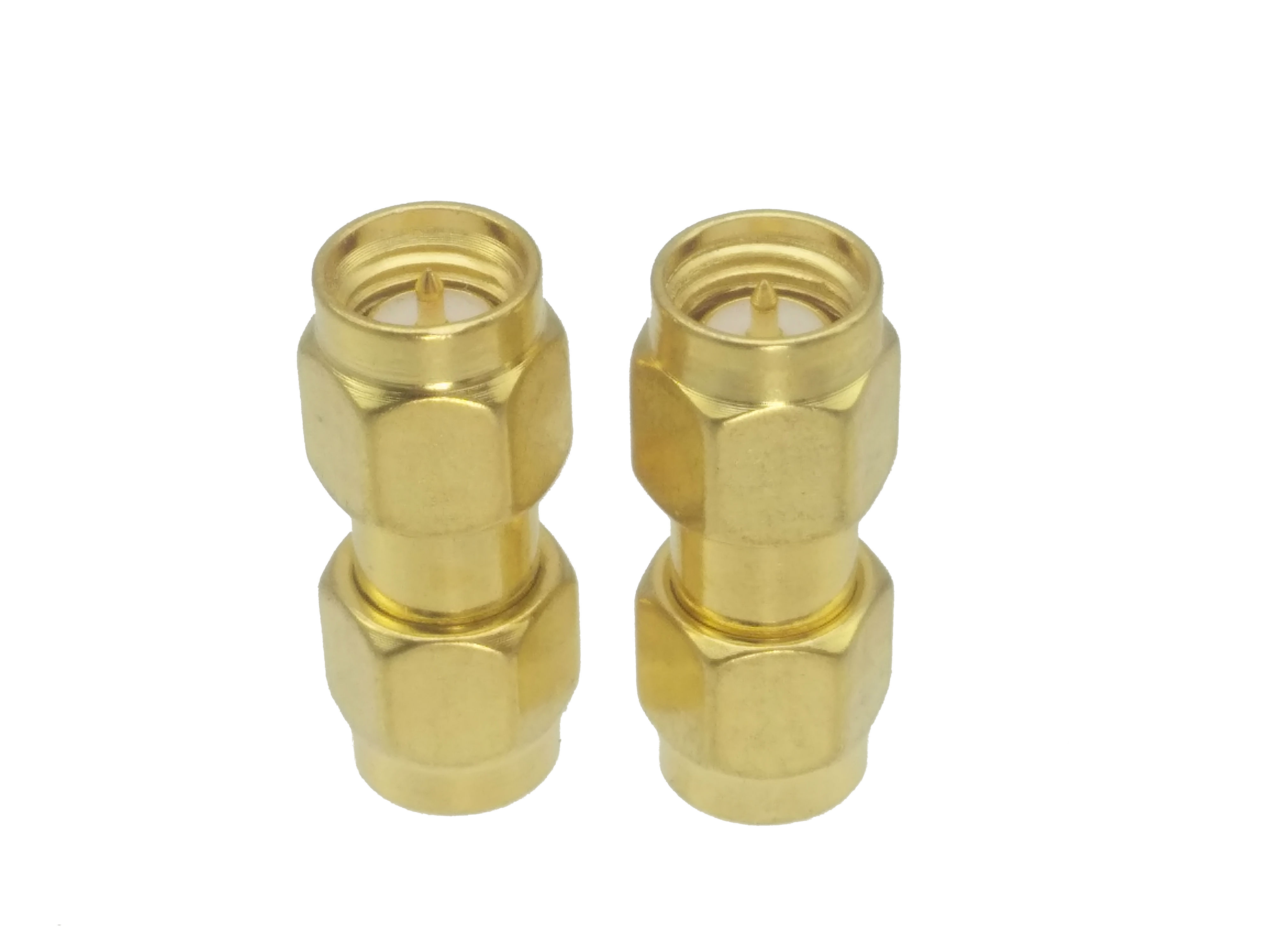 SMA Male To SMA Male Plug In Series RF Coaxial Adapter Connector