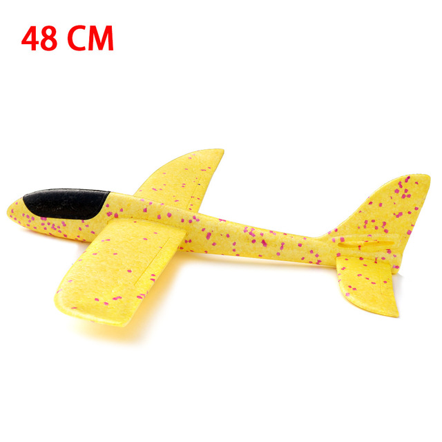 38/48CM Hand Throw Foam Plane Toys Outdoor Launch Glider airplane Kids Gift Toy Free Fly Plane Toys Puzzle Model Jouet