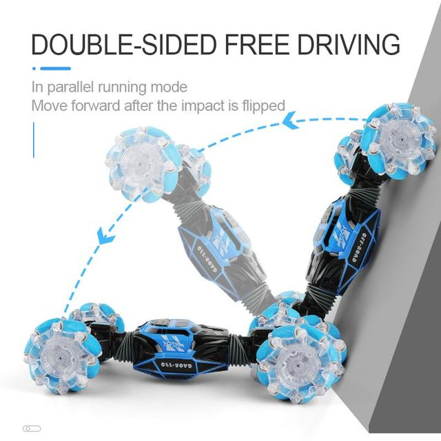 4WD RC Stunt Car Watch Control Gesture Induction Deformable Electric RC Drift Car Transformer Car Toys for Kids with LED Light 5