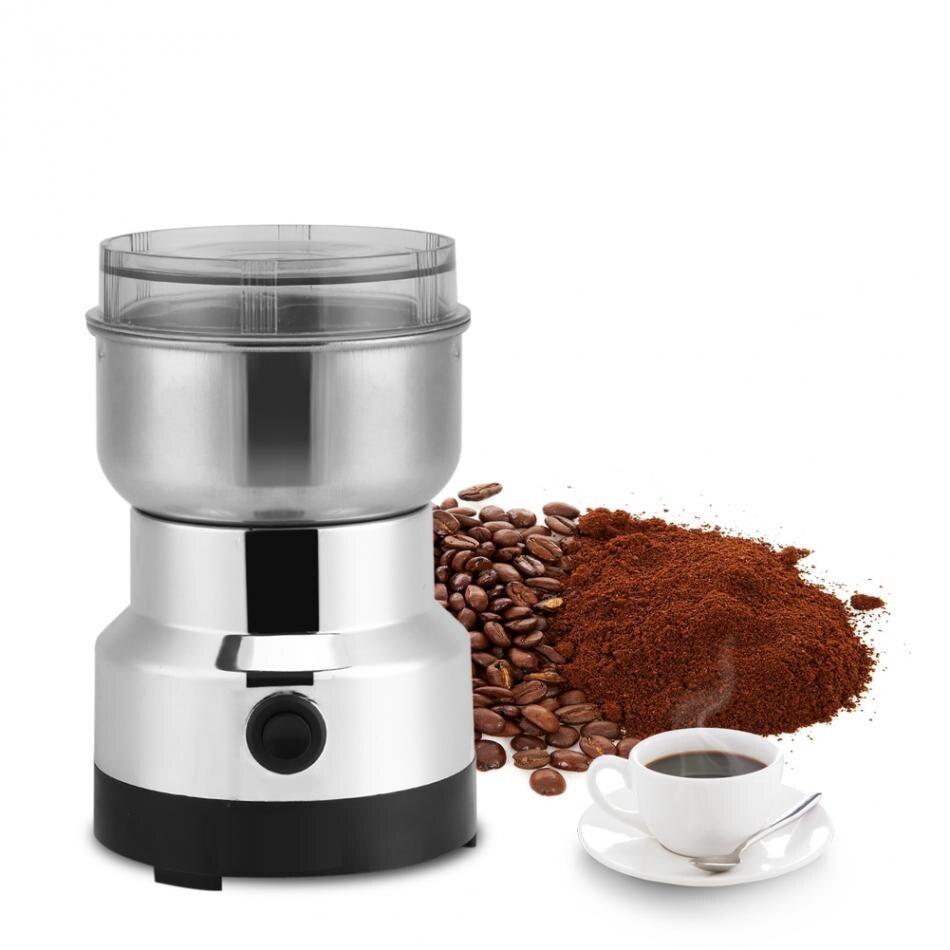 Mini moulin à café électrique moulin à épices fabricant en acier inoxydable lames haricots moulin herbes noix Moedor de café usage domestique prise ue