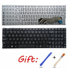 Teclado us para asus x541/x541ua, x541uv, x541sc, x541sc, x541sa, x541video, teclado de laptop em inglês, sem moldura