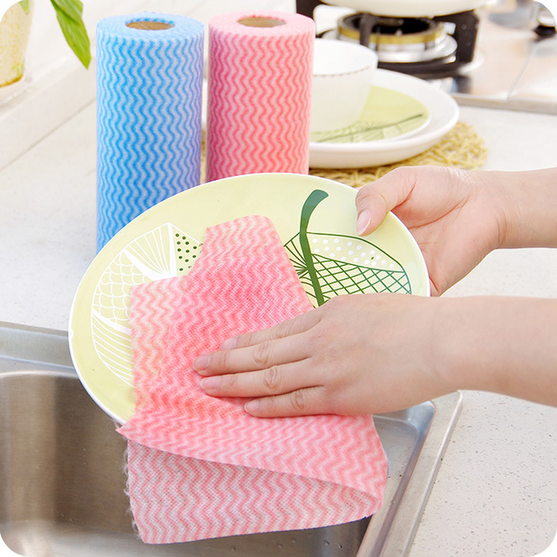 KitchenAce Disposable Washing Cleaning Cloth Towels Kitchen Towel Kitchen Gagets Kitchen Rags Wiping Souring Towel Gadget & Tool