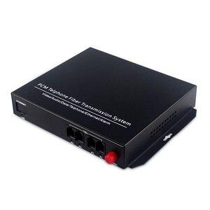 Image 3 - Supporto caller ID e fax 4 Canali pcm multiplexer telefono fibra ottica per rj11 media converter