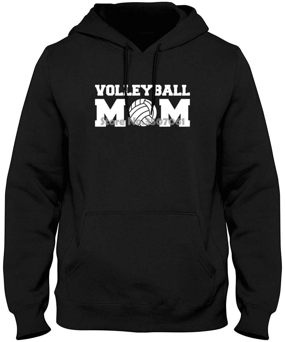 Volleyballer Mom Ball Women Harajuku Funny Casual Cotton Femme Black Hip Hop Hoodies & Sweatshirts