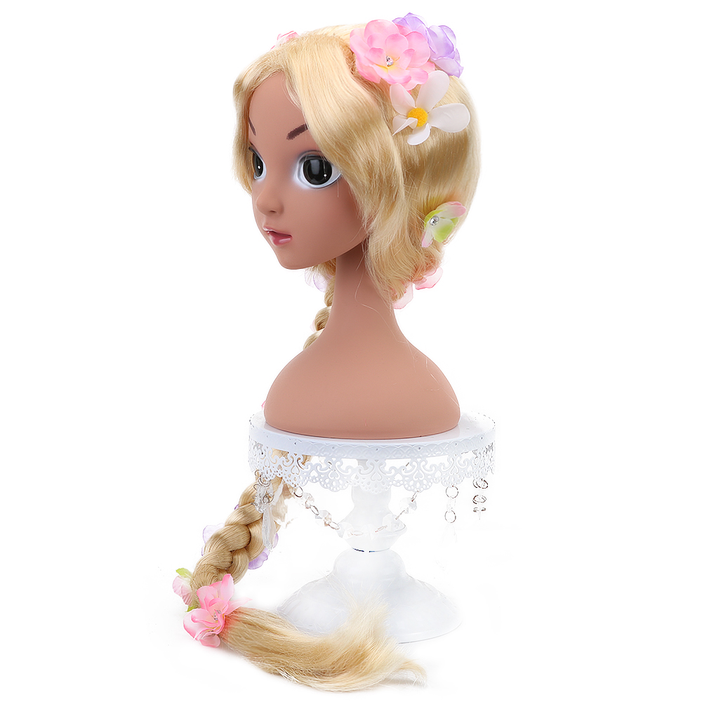 Free Beauty Long Blonde Synthetic Fairy Tales Cosplay Braided Box Braids Princess Wigs For Kids Girls Halloween Party Costume