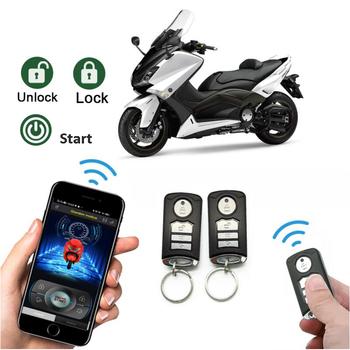 Alarm antywłamaniowy motocykla inteligentna obsługa przez aplikację w telefonie system zdalnego uruchamiania blokada odblokowania ostrzeżenie o wibracjach zabezpieczenie przed kradzieżą tanie i dobre opinie CN (pochodzenie) NONE