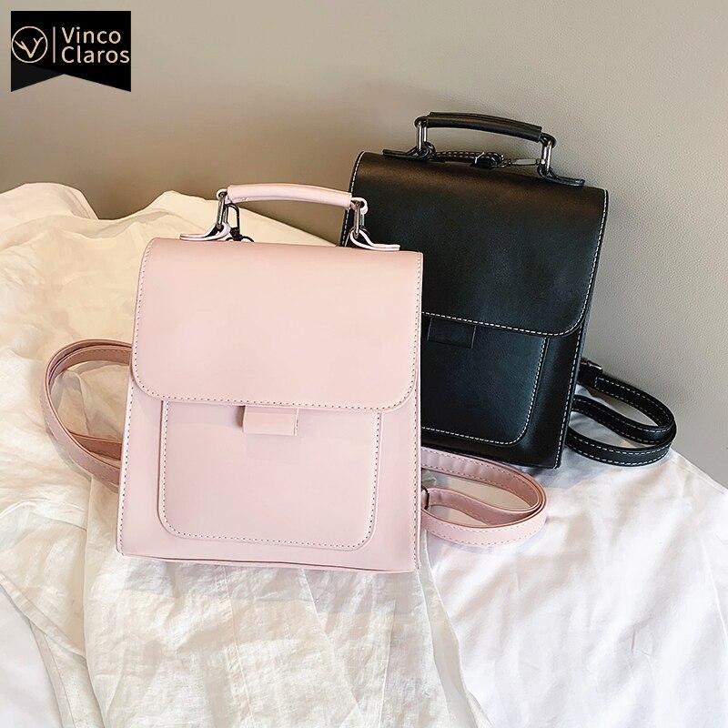 Small PU Leather Backpack Women Mini Back pack Travel Female High Quality Bookbag School Bags for Teenage Girls Mochila Feminina