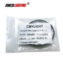 50PCS 3030 WHITE LED 3V-300mA 110-120LM verdadeiro branco 6000-6500k contas de luz SMD lâmpadas