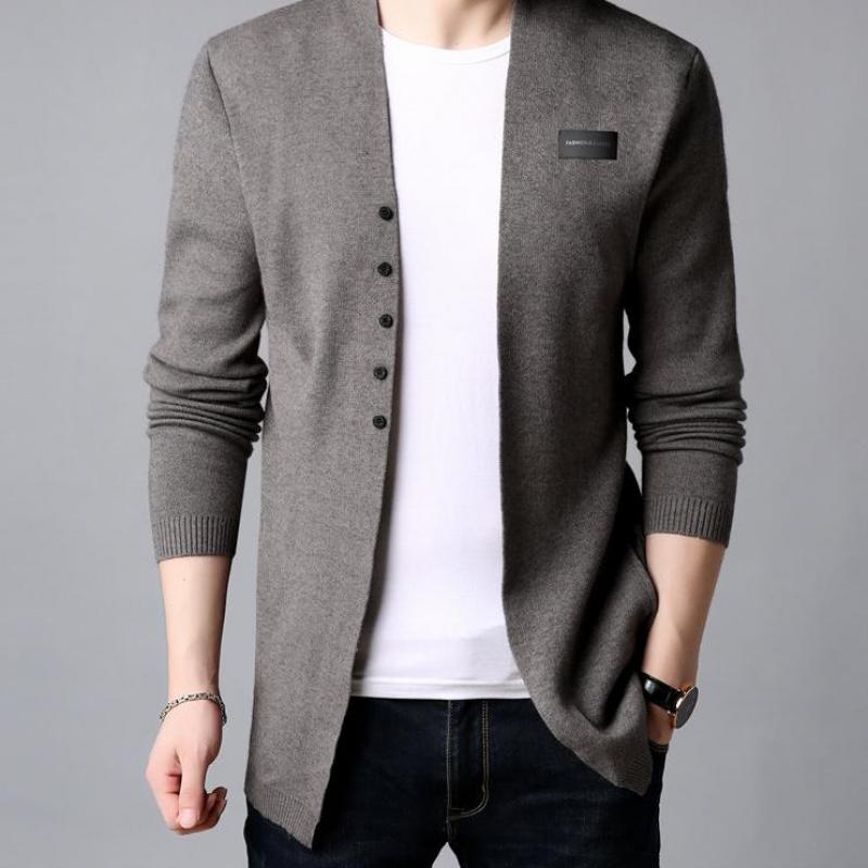 2019 Fashion Cardigan Men's Casual Knit Cotton Wool Sweater Men's Clothes Autumn And Winter New Men's Sweater And Sweater Coat