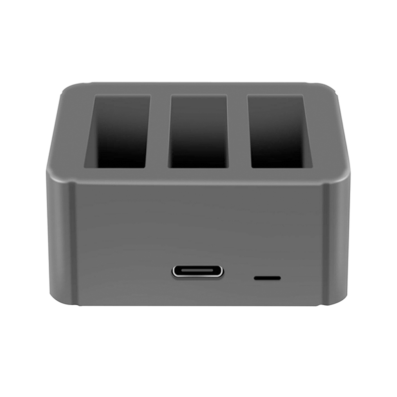 3 Battery Port Fast Charger Type-C Usb Charging Box For Dji Osmo Action Camera