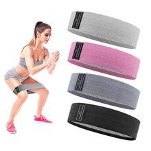 Faixa elástica trançada do treinamento do ginásio da ioga da força do expansor dos agachamentos antiderrapantes das faixas da resistência do laço do quadril da aptidão do treino