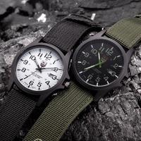 Mannen Horloges Waterdicht Datum Rvs Militaire Sport Horloge Analoge Quartz Horloge Nylon Band Relogio Masculino