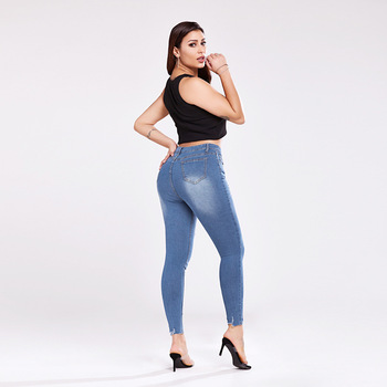 Trend Jeans Slim Jeans For Women Hole Design Woman Blue Denim Pencil Pants High Quality Stretch Waist Women  Yalabovso coyote valley 2017 hot style fine elastic jeans women s cotton hole in pencil and feet high quality jeans high waist jeans