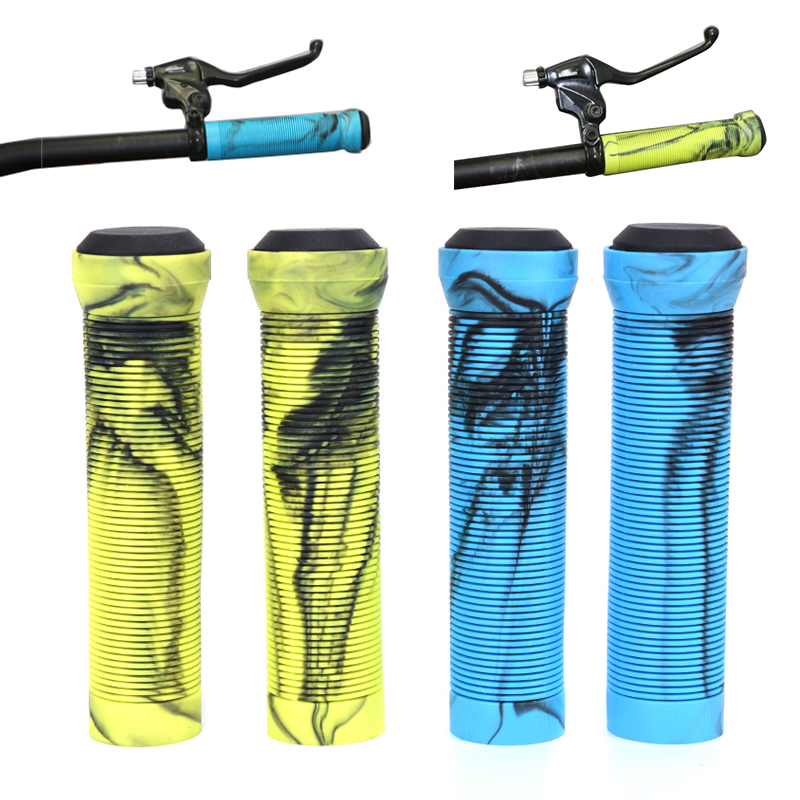 1Pair MTB Handlebar Grips Silicone Gel Lock On Anti Slip Grips For MTB Folding Bike Bicycle Parts
