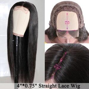 Image 4 - Бразильские прямые волосы 13x4 Синтетические волосы на кружеве человеческие волосы парики предварительно вырезанные эффектом деграде (переход от темного к выделить Синтетические волосы на кружеве парик 99J Ali Julia 4x4 кружева закрытие парик