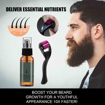 Natural Men Beard esencja na długie rzęsy Spray utrata włosów leczenie odżywka zadbana szybka broda wzmacniacz wzrostu konserwacja tanie i dobre opinie LAIFU Jedna jednostka 0000 CN (pochodzenie) Produkt do wypadania włosów 20210322 Beard Growth Spray 1 2Pcs 30ml nursing essence