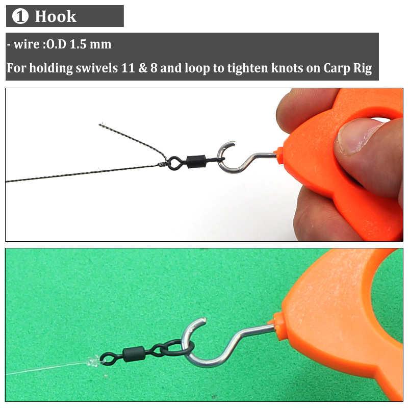 1PCS Karpfen Angeln Haken zu Halten Swivel und Ring Zubehör für D-rig Chod Karpfen Haar Rig, Der karpfen Angeln Terminal Tackle