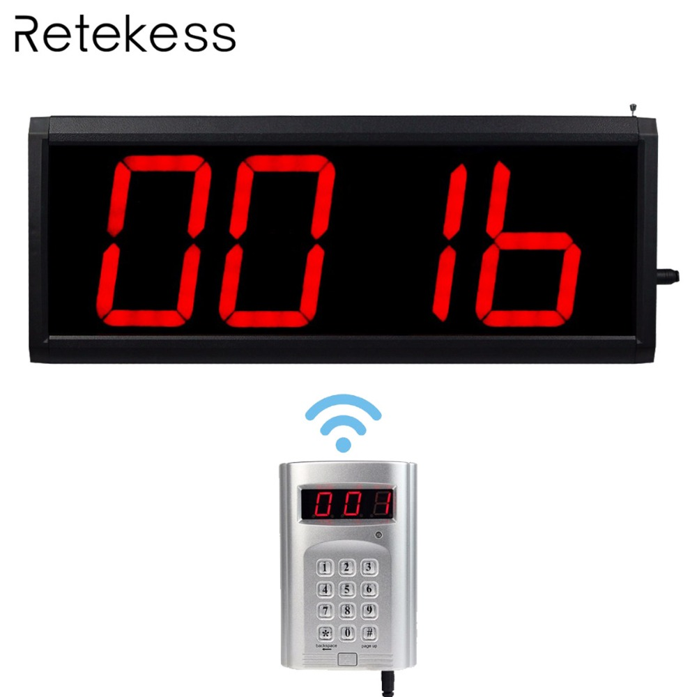 Wireless Call Number System Restaurant Paging Queuing System 1 keyboard transmitter + 1 host with PC Control F4410D-in Pagers from Computer & Office    1