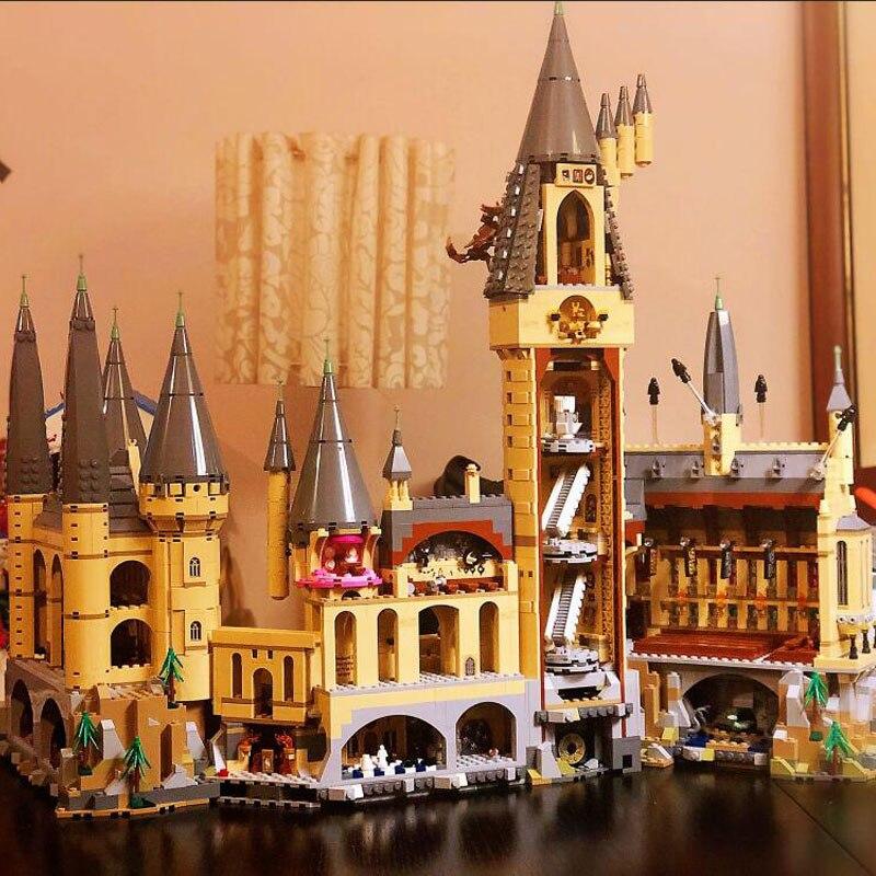 В наличии фильм H бородавок замок школьная Волшебная модель 6044 шт Строительные блоки кирпичные 71043 детский подарок совместим с 16060 игрушки - 2