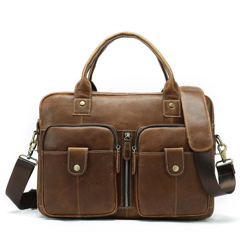 Genuine Leather Male Package Leisure Time Man Single Shoulder Document messenger computer Bag office for men luxury handbags hot