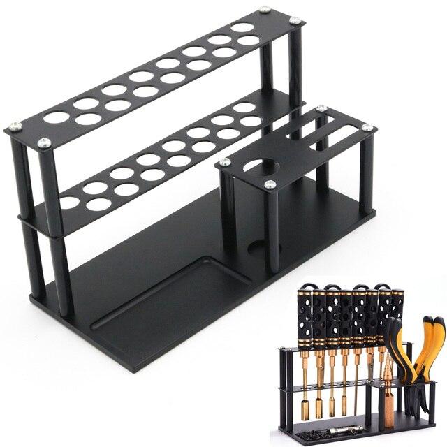 Ferramentas, liga de alumínio, prateleira de armazenamento de chave de fenda, suporte para alicate, tesoura, suporte de ferramenta soquete para modelo rc diy