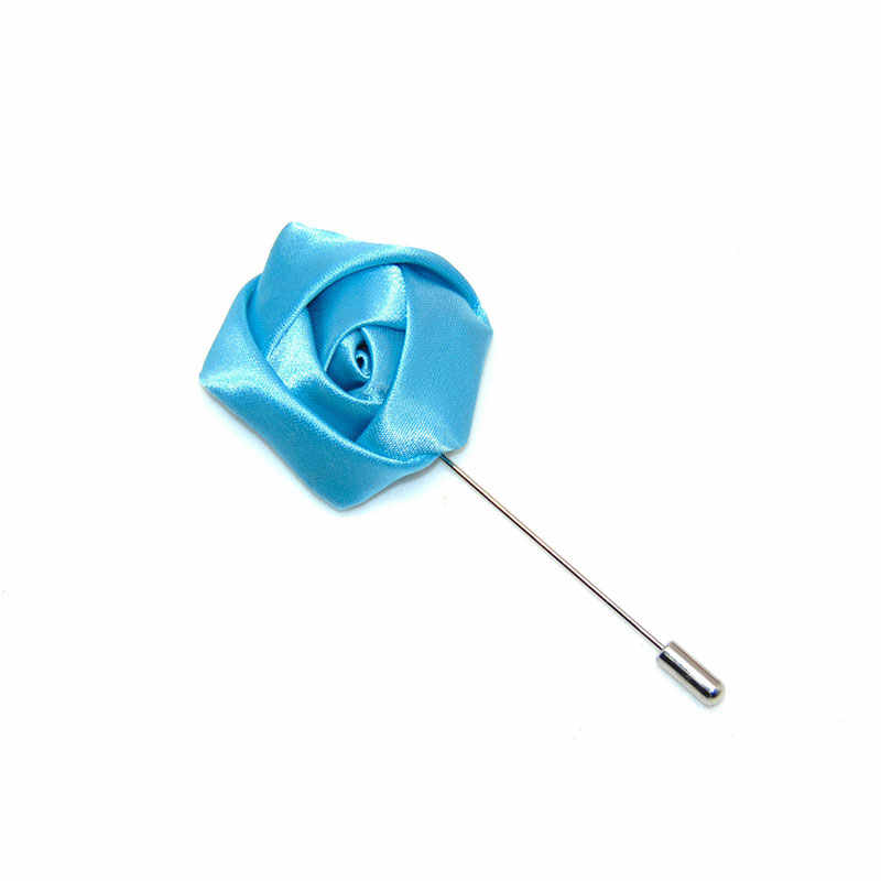 Lapel Stick Bros Pin Kerah Pin Bunga Mawar Buatan Tangan Suit Tuxedo Korsase Pernikahan Boutonniere Pesta Wanita Pria Hadiah