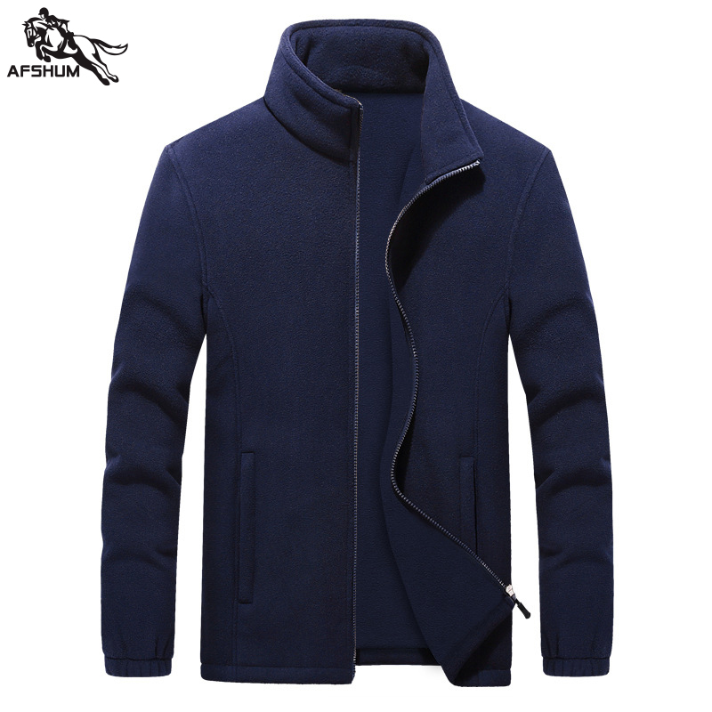 men Sweatshirts New 6XL 7XL 8XL 9XL Fleece jacket Solid color splice Standing collar jackets Sweatshirts mens casual warmth coat