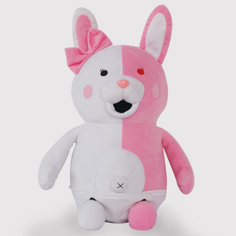 Skyleshine Dangan Ronpa Super Danganronpa 2  Pink Monomi Rabbit Plush Stuffed Doll  Animie Cartoon Toys