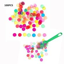 【Ограниченное по времени предложение 】обучающие игрушки Монтессори магнитная палочка набор с прозрачными цветными счетными фишками с металлической петлей