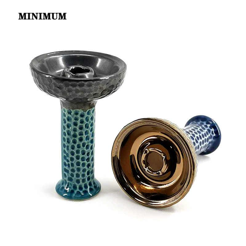 Tigela de cerâmica para narguia 1x, bacia de phunnel com um furo, para garrafas, acessórios para chicha e narguile