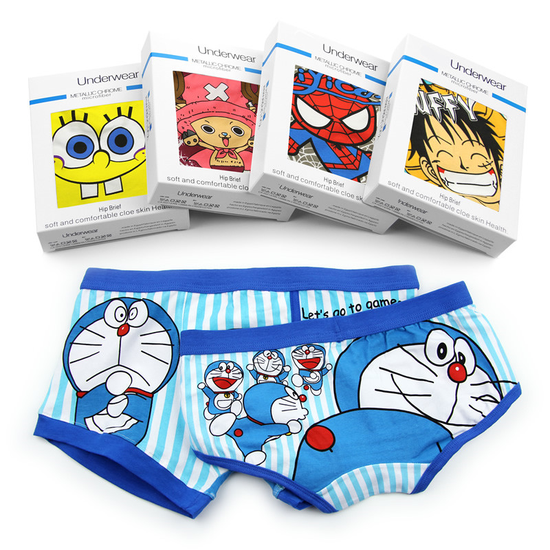 Supreme Underwear High Quality Cotton Sexy Boxer Men Funny Underwear For Couples Brand Underpants Man Cartoon Superman Boxer