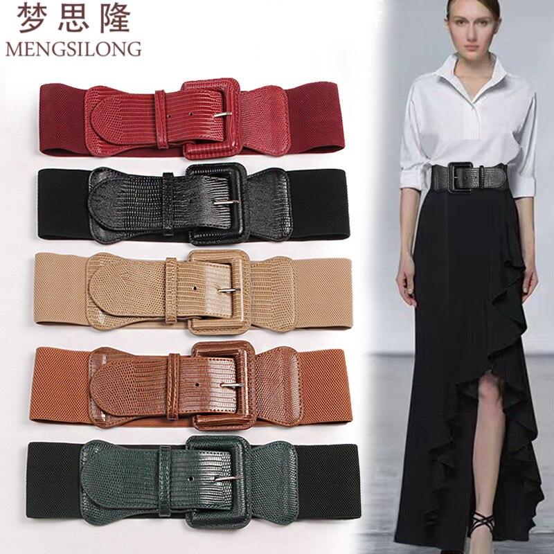 fashion lady's black/white/red wild PU  belt dress shirt coat Girdle