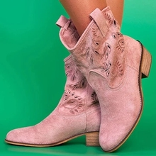 HEFLASHOR Boots For Women Retro Fashion 2019 New Ladies British Style Short Tube Frosted Tassel Botas Mujer