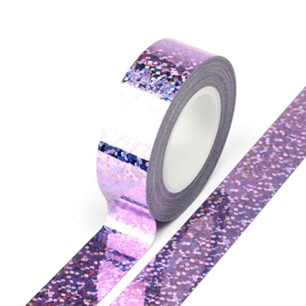 Laser Washi Tape Paper DIY Planner Masking Tape Small Roll Tapes Stickers Decorative Stationery Tapes Party Decoration