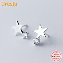 Stud-Earrings Jewelry Tiny 925-Sterling-Silver Girls Women's Fashion Cute Gift Trusta