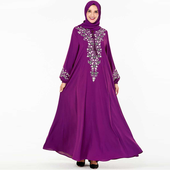 Abaya Turkey Muslim Dress Moroccan Kaftan Dubai Islamic Clothing Abayas For Women Caftan Marocain Robe Islam Hijab Dress Djelaba muslim women dress abaya short sleeved small dots pattern marron robe dubai caftan clothing