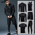 Männer Sportswear Kompression Sport Anzüge Quick Dry Lauf Sets Kleidung Sport Jogger Training Gym Fitness Trainingsanzüge Running Set