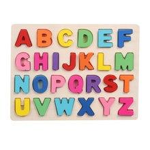 Деревянные головоломки с красочными буквами/цифрами детство
