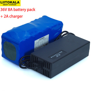 Image 1 - 36V 8Ah 10S4P 500w 18650 Rechargeable battery pack ,modified Bicycles,electric vehicle 36V Protection with BMS+ 42v 2A Charger