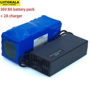 Image 1 - 36v 8ah 10s4p 500w 18650 bateria recarregável, bicicletas modificadas, veículo elétrico 36v proteção com bms + 42v 2a carregador
