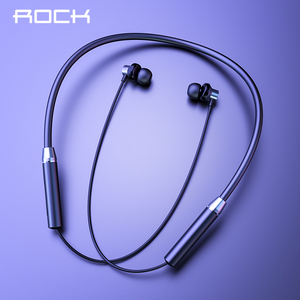 Image 1 - ROCK Sport Magnetic Bluetooth V5.0 Earphone Wireless Earphones Magnet Earbuds With Microphone Stereo Auriculares Neckband