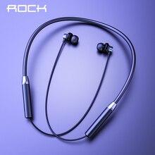 Rock Sport Magnetische Bluetooth V5.0 Oortelefoon Draadloze Koptelefoon Magneet Oordopjes Met Microfoon Stereo Headset Nekband