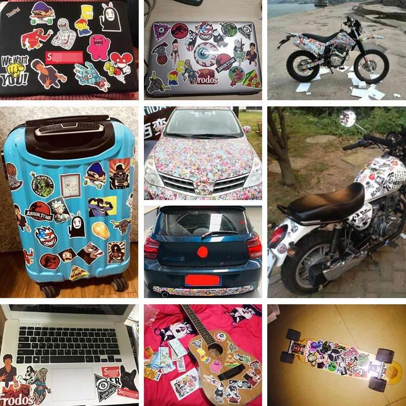 3 Pcs ROCK Gerakan Keren Stiker Tahan Air Koper Laptop Gitar Bagasi Skateboard Mainan Stiker Yang Indah