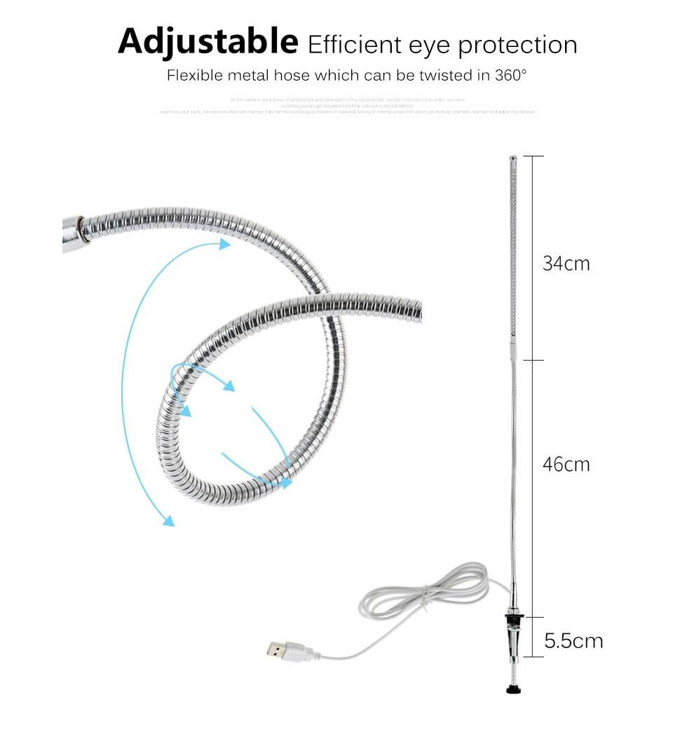 de mesa de escritório usb flexível proteção para os olhos luz de leitura.