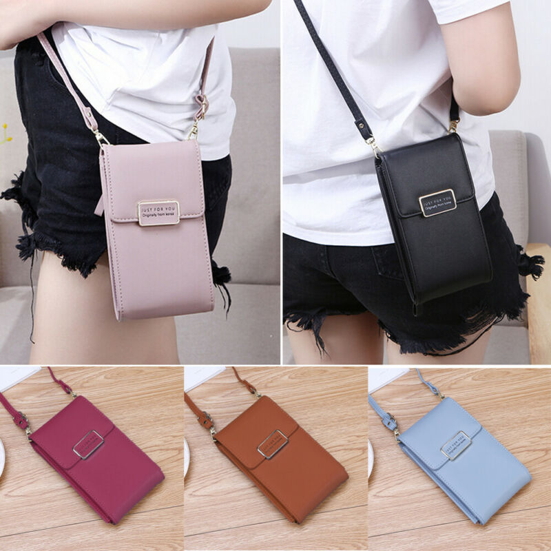Womens Multi-function Wallet Purse Coin Cell Phone Mini Cross-body Shoulder Bag