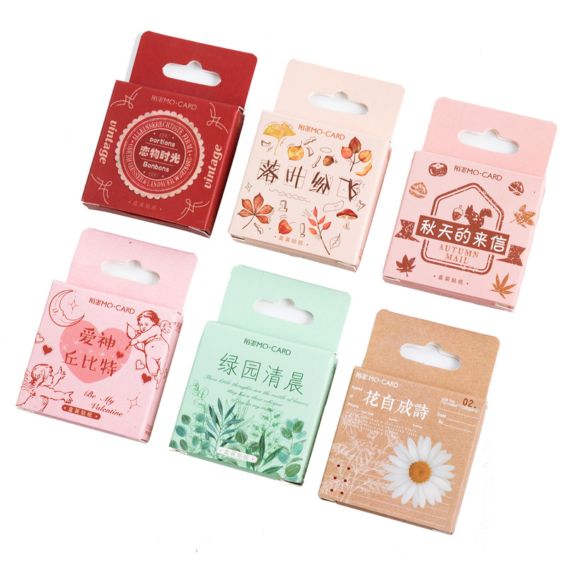 45PCS/box New Good Food Paper Lable Sealing Stickers Crafts Scrapbooking Decorative Lifelog DIY Stationery Sticker
