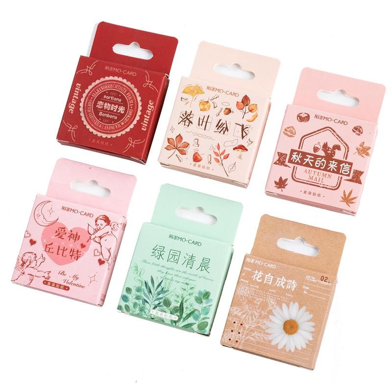 45PCS/box New Good Food Paper Lable Sealing Stickers Crafts Scrapbooking Decorative Lifelog DIY Stationery Sticker