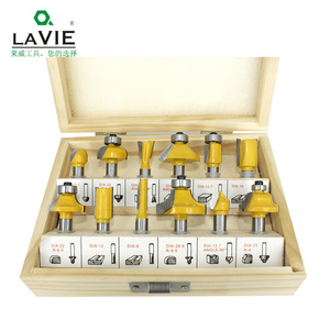 LAVIE 12pcs 8mm Router Bit Set Trimming Straight Milling Cutter Wood Bits Tungsten Carbide Cutting Woodworking Trimming MC02006