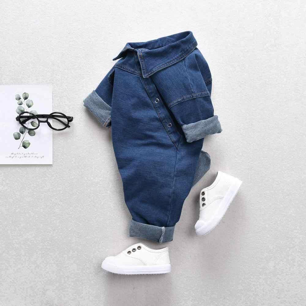 Baby kleidung denim overall baby jungen overall robe kleidung krabbeln kleidung mädchen denim overall overall neugeborenen kleidung