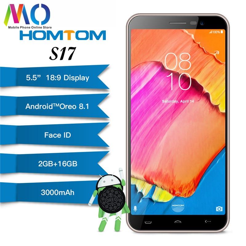 Original Global Homtom S17 Smartphone Face ID Fingerprint 5 5inch 18 9 Display Android 8 1